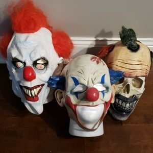 HALLOWEEN scary clown  masks. Set of 3.